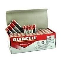 Pilha Alfacell Aaa C/60 - Palito Aa Pilha Comum P/ Eletronic