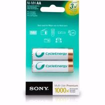 Pilha Recarregável Sony Cycleenergy Aa Ni-mh 2100mah C/2 Un