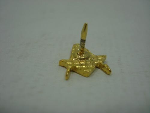 Pin- Boton- Broche- Maçonária- Maçom - Esquadro / Compasso
