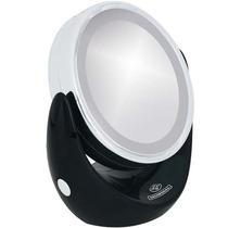 Espelho Aumento 5x Luz Led 13,4cm Suporte Mundial Bc-609pr