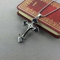 Colar Masculino Crucifixo - Cruz Aço Inoxidável + Cordão