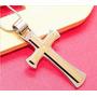 Colar Escritura Da Biblia - Cruz Aço Inoxidável + Corrente