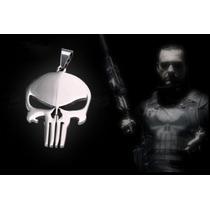 Justiceiro Corrente Pingente The Punisher Caveira Em Metal