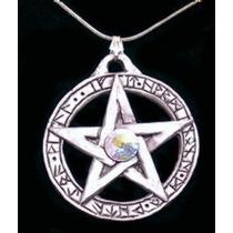 Pentagrama Lei Wicca Com Cristal Swarovski