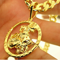 Pingente As Armas De São Jorge Guerreiro Ouro Banho 18k