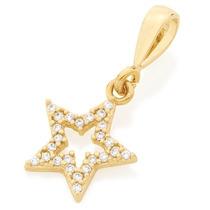 Pingente Estrela Com Zircônias Rommanel Med 1,6cm 541857