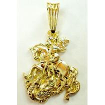 Lindo Pingente Banhado A Ouro São Jorge