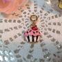 Berloque Pingente Cupcake Folheado A Ouro Para Pulseiras