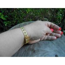 Bracelete Banhado A Ouro Pingente Relógio. Lindissimo