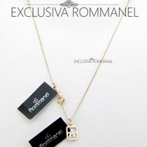 Rommanel Pingente E Corrente Letra Folheado Ouro 540100