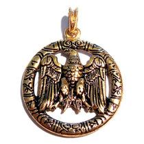 Brasão Alemão Águia Banhado A Ouro 24 Quilates