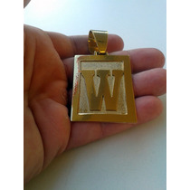 Placa Letra 5cmx4cm Banhada A Ouro - Todas As Letras