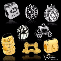 Berloque B. Ouro18k/prata P/pulseira Vivara Ou Pandora Charm