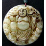 Lindo Pingente De Buda Esculpido Em Pedra Jade Natural
