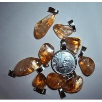 Pingente De Citrino Polido - Prosperity Minerais