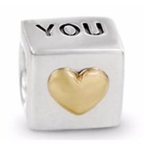 Berloque | Charm P/ Pulseira Estilo Pandora -cubo I Love You