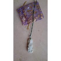 Pingente Jade Branca Deusa Kwan Yin Taoismo Frete Gratis