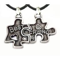 Colar Amizade Best Friends Quebra-cabeça Melhor Amiga