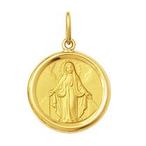 Leão Jóias Medalha Nossa Senhora Das Graças 2gr Ouro 18k