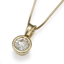 Lindo Ponto De Luz Diamante De 40 Pontos Em Ouro 18 Quilate