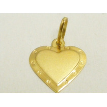 Monreale Pingente De Ouro 18k Placa Coração Para Gravação