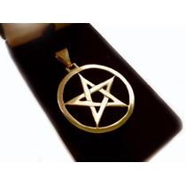 Pentagrama Em Ouro 18k (750) Pentáculo (joia Maciça)