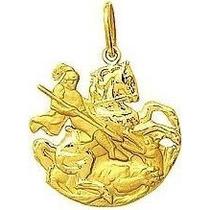 Monreale Lindo Pingente São Jorge Em Ouro 18k-750
