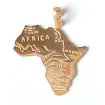 Pingente De Ouro 18 Kl - África E Seus Rios Principais