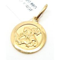 Joalheriavip Pingente São Jorge Em Ouro 18k Frete Grátis