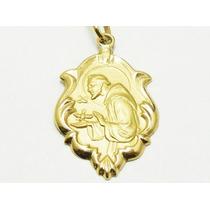 Monreale Lindo Pingente Em Ouro 18k Medalha De São Francisco