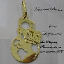 Seu Pingente Personalizado De Ouro Maciço 18k Frete Grátis