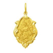 Medalha Anjo Da Guarda Em Ouro 18k 1 Cm Com Certificado