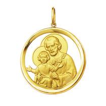Medalha São José Ouro 18k 6gr Grande-com Certificado