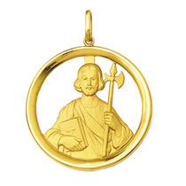 Medalha São Judas Tadeu Ouro 18k 5gr Grande-com Certificado