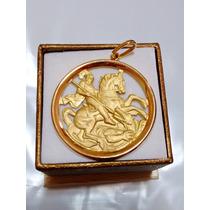Medalha São Jorge Ouro 18k 2,1gr - Com Certificado