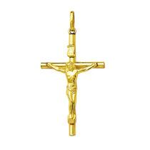 Pingente Crucifixo De Ouro 4cm 18k 750 Com Certificado
