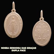 Nossa Senhora Das Graças Dupla Face- Pingente Em Ouro18k 750