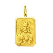 Medalha Coração De Jesus Ouro 18k 2,5 Cm Com Certificado
