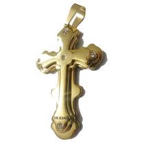 Pingente Crucifixo Banhado A Ouro 18k - Super Promoção