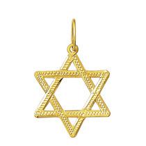 Estrela De Davi 2 Cm Em Ouro 18k 750 Com Certificado
