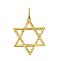 Estrela De Davi 2,2 Cm Em Ouro 18k 750 Com Certificado