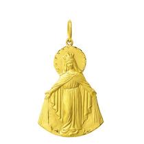 Medalha Nossa Senhora Das Graças 2,9 Cm Em Ouro 18k 750