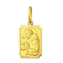 Pingente Medalha São Francisco De Assis Ouro 18k Pequeno