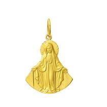 Medalha Nossa Senhora Das Graças 1,9 Cm Em Ouro 18k 750