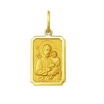 Pingente Medalha São José Ouro 1,6 Cm Médio Ouro 18k