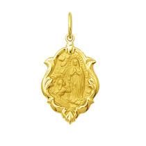 Medalha Nossa Senhora De Lourdes Ouro 18k 1,5 Cm Certificado