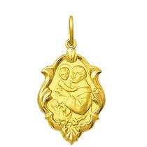 Medalha Santo Antônio Ouro 18k 1,5 Cm Com Certificado