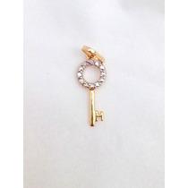 Pingente Chave Em Ouro 18 Quilate S/ Corrente Frete Grátis