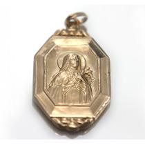 Pingente Antigo De Santa Teresinha Em Ouro - D231