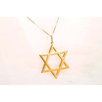 Pingente Estrela De Davi, Ouro 18kt